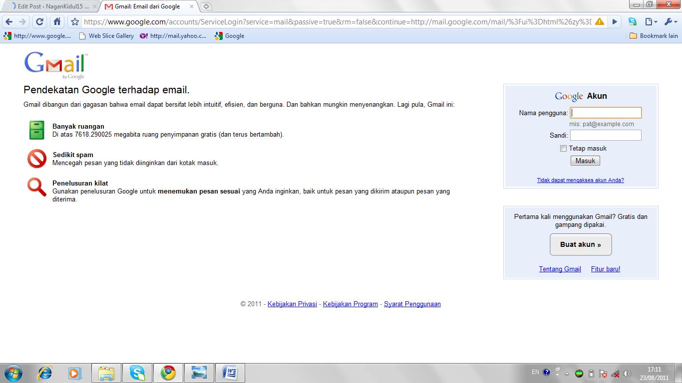 Langkah – langkah membuat email di Gmail | NaganKidul15